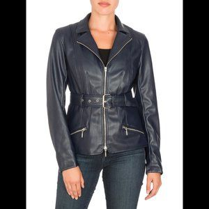 GUESS Teona Faux Leather Jacket XS NWT